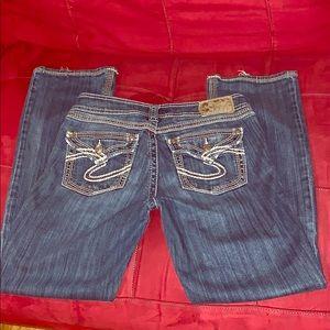 Women's juniors silver suki 17 surplus jeans 28x31